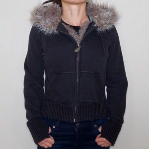 You will love it!  Cozy fur-lined zipped hoodie.